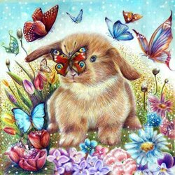 Пазл онлайн: Крольчонок