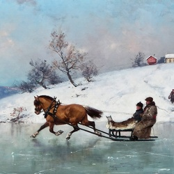 Пазл онлайн: Катание на лошадях