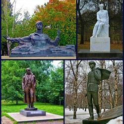 Пазл онлайн: Памятники Есенину