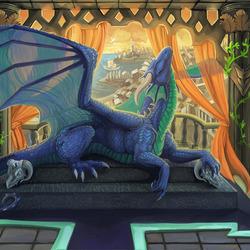 Пазл онлайн: Храм Дракона