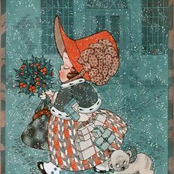Пазл онлайн: Рождественская открытка