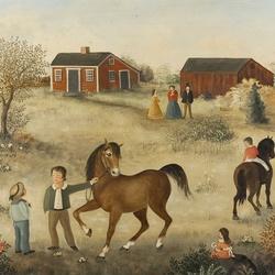Пазл онлайн: Лошадки