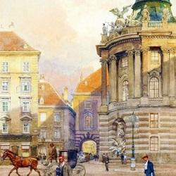 Пазл онлайн: Площадь Michaelerplatz. Старая Вена