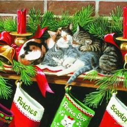 Пазл онлайн: Рождественские подарочки