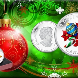 Пазл онлайн: Необычные монеты к Новому году