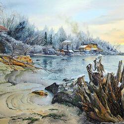 Пазл онлайн: Зимнее море