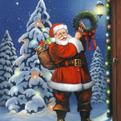 Пазл онлайн: Рождественский венок