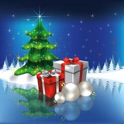 Пазл онлайн: Ёлочка с подарками