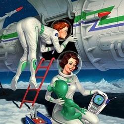 Пазл онлайн: Космонавтки