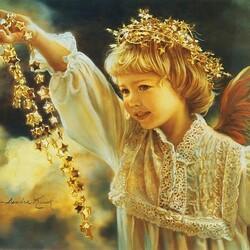 Пазл онлайн: Ожерелье ангелов