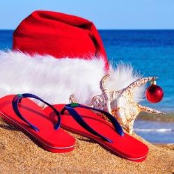 Пазл онлайн: Новый год на пляже