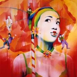 Пазл онлайн: Артистка цирка