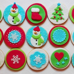 Пазл онлайн: Новогодние печенья