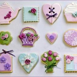 Пазл онлайн: Печенье к чаю