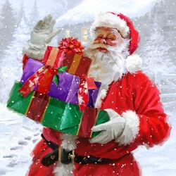 Пазл онлайн: Пришел с подарками