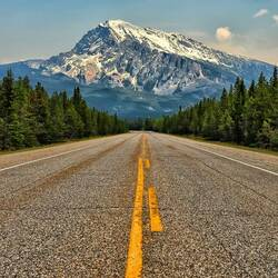 Пазл онлайн: Горная дорога
