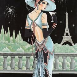 Пазл онлайн: Ананасы в шампанском