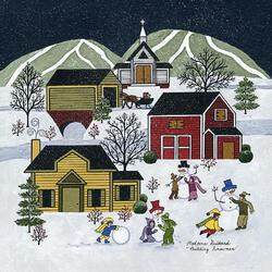 Пазл онлайн: Строительство снеговиков