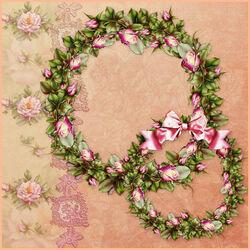 Пазл онлайн: Венки из атласных роз