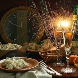 Пазл онлайн: Новогодний стол