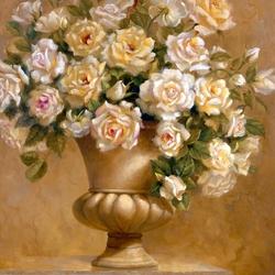 Пазл онлайн: Букет белых роз