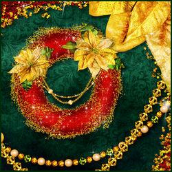 Пазл онлайн: Золотые отблески праздника