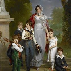 Пазл онлайн: Герцогиня де Монтебелло с детьми