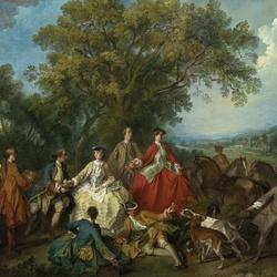 Пазл онлайн: Пикник после охоты