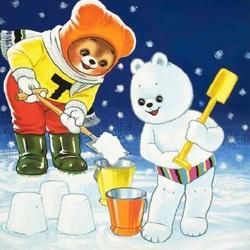 Пазл онлайн: Снежные кулички