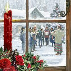 Пазл онлайн: Рождественское окно