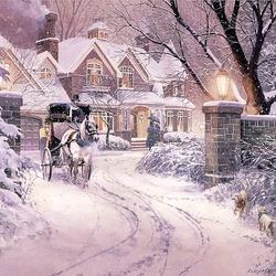 Пазл онлайн: Белая зима