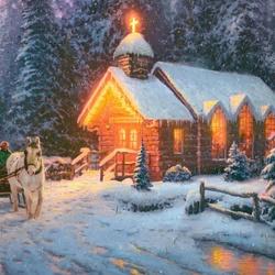 Пазл онлайн: Рождественская часовня