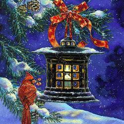 Пазл онлайн: Ночь накануне Рождества