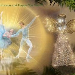 Пазл онлайн: С Рождеством и Новым годом!