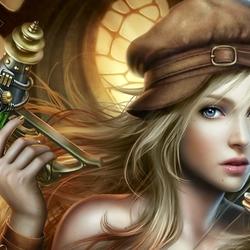Пазл онлайн: Воинственная девушка