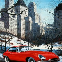 Пазл онлайн: Красный автомобиль