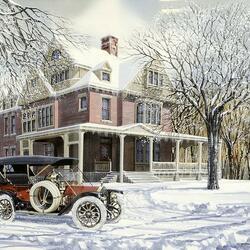 Пазл онлайн: Старинный автомобиль