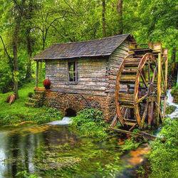 Пазл онлайн: Старая мельница