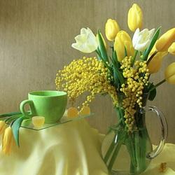 Пазл онлайн: Весенние цветочки