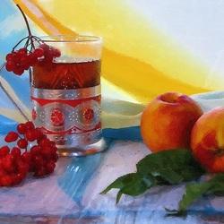 Пазл онлайн: Чай с калиной