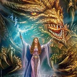 Пазл онлайн: Повелительница драконов