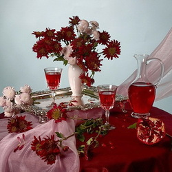 Пазл онлайн: Гранатовое вино