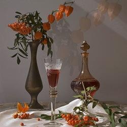 Пазл онлайн: Рябиновое вино