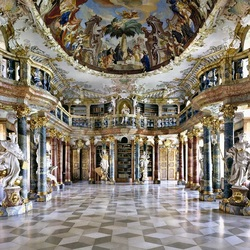 Пазл онлайн: Библиотека монастыря Виблинген