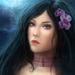 Пазл онлайн: Лунный цветок