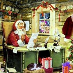 Пазл онлайн: Письма Деду Морозу