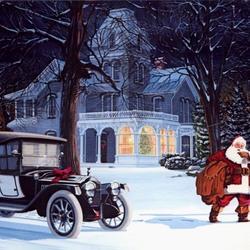 Пазл онлайн: Визит Санта Клауса