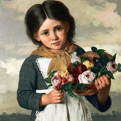 Пазл онлайн: Маленькая цветочница
