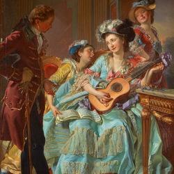 Пазл онлайн: Очаровательная гитаристка