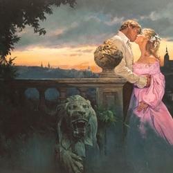 Пазл онлайн: Вечерний поцелуй